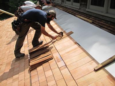 Installation of Cedar Roofing
